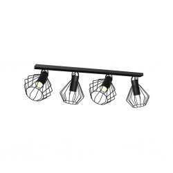 Lampa Sufitowa NIKO BLACK 4xGU10