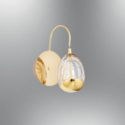 Kinkiet led 6w lampa ozcan 5373 złoty łazienka salon sypialnia