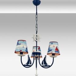 Dziecięca lampa wisząca żyrandol  avonni  av-1416-boat statek okręt