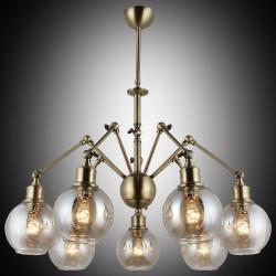 Nowoczesna patynowa industrialna lampa żyrandol loft  lucea 1389-52-07 botte salon sypialnia jadalnia