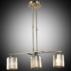 Elegancka patynowa kryształowa lampa sufitowa żyrandol lucea derora 80178-02-l03-ab  salon sypialnia jadalnia hotel restauracj