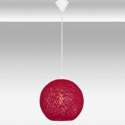 Czerwona lampa wisząca avonni av-4174-kr-25  jadalnia  salon kuchnia restauracja