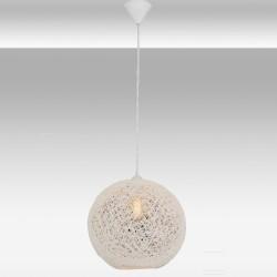 Biała lampa wisząca avonni  av-4174-by-30  jadalnia  salon kuchnia restauracja