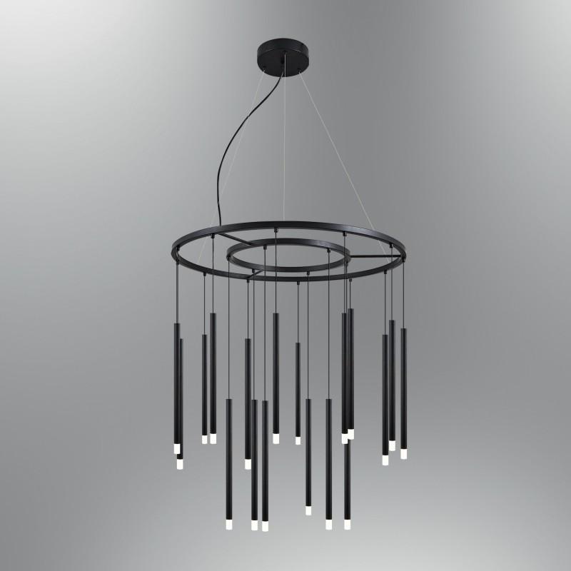 Czarna lampa wisząca nad stół nowoczesna 5666-18A ozcan kuchnia  jadalnia salon sypialnia