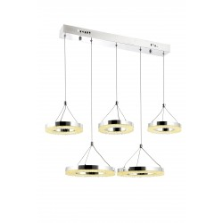 Nowoczesna lampa wisząca ALPI VITALI 7834-5Y POWER LED SALON JADALNIA KUCHNIA SYPIALNIA