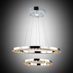 Nowoczesna kryształowa lampa wisząca lucea leopardi 51853-02-pm2-cr  led  salon sypialnia jadalnia