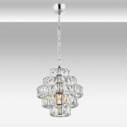 Ekskluzywna  srebrna  kryształowa lampa wisząca avonni av-5228-1k     salon sypialnia jadalnia hotel restauracja