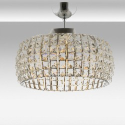 Ekskluzywna  srebrna  kryształowa lampa sufitowa plafon  avonni av-4232-6k     salon sypialnia jadalnia hotel restauracja
