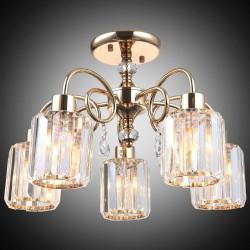 Elegancka złota kryształowa lampa sufitowa lucea anisha 80179-02-c05-fg  salon sypialnia jadalnia hotel restauracja