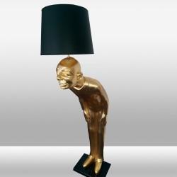 Duża lampa stojąca podłogowa 190cm ozcan 7046-2 złota figura