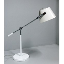 Biała ledowa lampka stolikowa ozcan 6515ml lampa nocna biurkowa