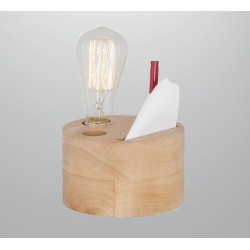 OUTLET 67 Drewniana lampka stolikowa ozcan 6316-14 lampka nocna przybornik