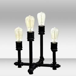 Nocna lampka stolikowa ozcan 6563 czarna lampa na stolik 30cm