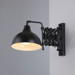 Czarny  kinkiet  avonni salon sypialnia jadalnia hap-9082-bsy lampa
