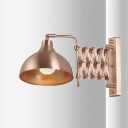 Miedziany kinkiet  avonni salon sypialnia jadalnia hap-9082-cpr lampa
