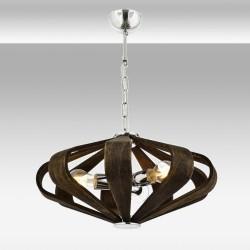 Nowoczesna lampa wisząca patyna avonni salon sypialnia jadalnia av-1674-3e  lampa