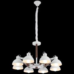 Biały żyrandol lucea bonaldo 51762-03-p08-wt industrial  kuchnia jadalnia salon biuro pub restauracja loft loft kawiarnia