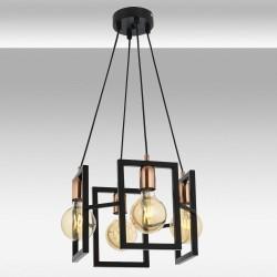 Lampa wisząca żyrandol avonni AV-4222-4T-BSY czarna salon sypialnia jadalnia