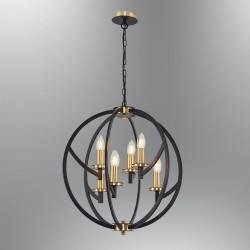 Lampa wisząca vintage  ozcan  pokój salon  sypialnia 6475-6A lampa