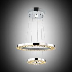 Nowoczesna kryształowa lampa wisząca lucea leopardi 51853-01-ps2-cr  led  salon sypialnia jadalnia