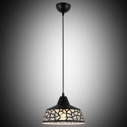 Nowoczesna perforowana czarna lampa wisząca lucea 8125-25-p01-bk geometry  salon sypialnia jadalnia kuchnia