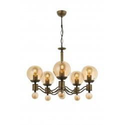 Lampa wisząca patynowy żyrandol  avonni salon sypialnia jadalnia av-1731-5E