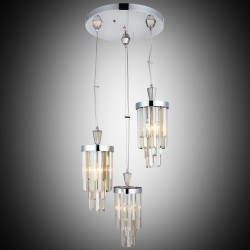 Elegancka srebrna kryształowa lampa wisząca lucea serres 1421-51-03 salon sypialnia jadalnia hotel restauracja