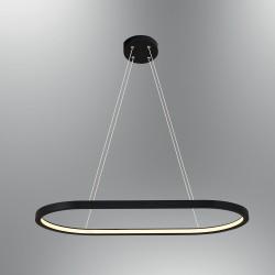 Czarna lampa wisząca led ozcan salon sypialnia jadalnia 3975 - 1a lampa