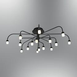 Czarna lampa sufitowa plafon  nowoczesna 5666-16 ozcan kuchnia  jadalnia salon sypialnia