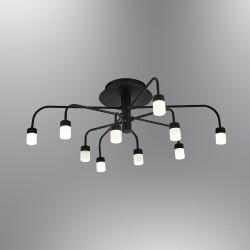 Czarna lampa sufitowa plafon  nowoczesna 5666-10 ozcan kuchnia  jadalnia salon sypialnia