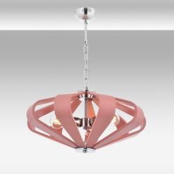 Nowoczesna lampa wisząca różowa avonni salon sypialnia jadalnia av-1674-3pm  lampa