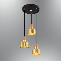 Złota lampa wisząca  ozcan salon sypialnia jadalnia 6461-3A,03