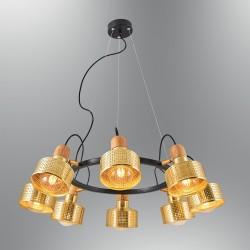Złota lampa wisząca  ozcan salon sypialnia jadalnia 6461Y-8A,03