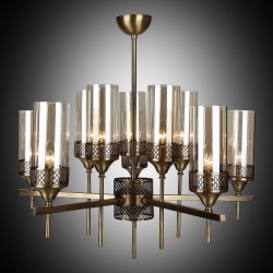 Klasyczna lampa żyrandol  lucea  nisa 1352-52-10 salon sypialnia jadalnia  hotel sala bankietowa salon