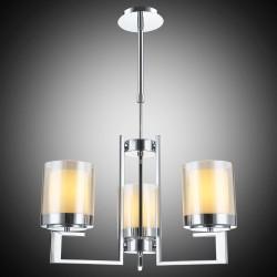 Klasyczna srebrna lampa żyrandol  lucea  80191-02-p03-cr levin salon sypialnia jadalnia  hotel sala bankietowa salon