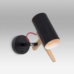 Czarny regulowany kinkiet halogenowy ozcan 6511 czarna lampa ścienna z włącznikiem