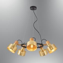 Złota lampa wisząca  ozcan salon sypialnia jadalnia 6461Y-5A,03