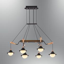 Lampa wisząca nowoczesna ozcan kuchnia  jadalnia salon sypialnia 5678 - 6AS