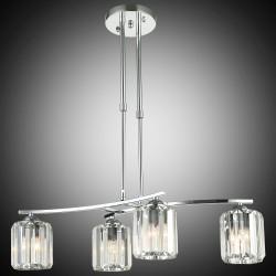 Elegancka srebrna kryształowa lampa sufitowa żyrandol lucea derora 80178-03-l04-cr  salon sypialnia jadalnia hotel restauracja