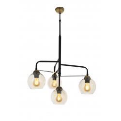Nowoczesna patynowa industrialna lampa żyrandol loft  avonni av-4274-4bsy  salon sypialnia jadalnia