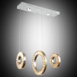 Nowoczesna kryształowa lampa wisząca lucea caserta 51852-03-l03-cr  led  salon sypialnia jadalnia