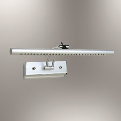 Srebrny kinkiet ledowy nad obraz lustro lampa led ozcan 5120-1 chrom