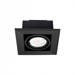 LAMPA PODTYNKOWA BLOCCO CZARNA 1x7W GU10 LED