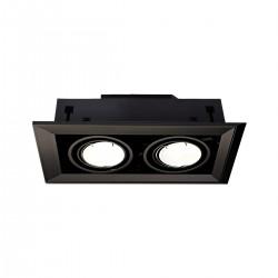 LAMPA PODTYNKOWA BLOCCO CZARNY 2x7W GU10 LED