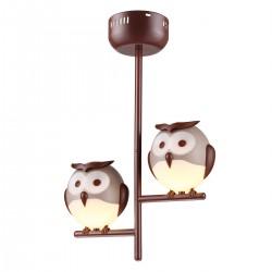 LAMPKA SUFITOWA OWL 2XG9 LED