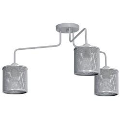 Lampa sufitowa LOUISE GREY 3xE27