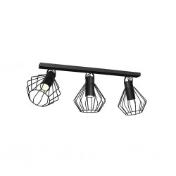 Lampa Sufitowa NIKO BLACK 3xGU10