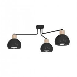Lampa Sufitowa CAPRI BLACK 3xE27