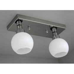 Srebrna plafoniera sevinc 3051-2 lampa srebro na listwie 2x60w