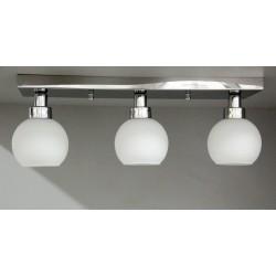 Srebrna plafoniera sevinc 3051-3 lampa srebro na listwie 3x60w